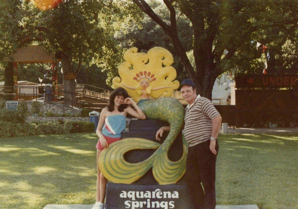 1980, DeAnne and Ed at Aquarena Springs
