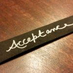 "Bracelet Saying, ""Acceptance"""